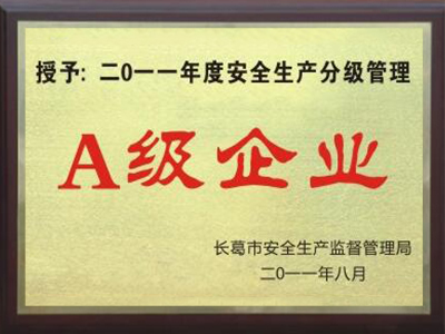 2011年度安全生产分级管理